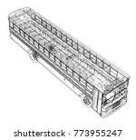 school bus outline vector.... | Shutterstock .eps vector #773955247