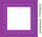 vector abstract ornamental... | Shutterstock .eps vector #773956213