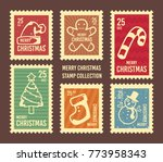 merry christmas postage stamp... | Shutterstock .eps vector #773958343