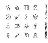 orthodontic icon set.... | Shutterstock .eps vector #773963263