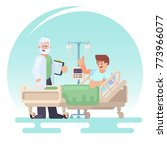 hospitalization of the patient. ... | Shutterstock .eps vector #773966077