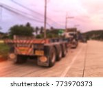 abstract blur trailer and tail... | Shutterstock . vector #773970373