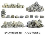 stones are stacked on a white... | Shutterstock . vector #773970553