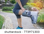 female patients wear shoes... | Shutterstock . vector #773971303