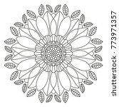 mandala shape for coloring....   Shutterstock .eps vector #773971357