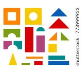 bright colorful wooden blocks...   Shutterstock .eps vector #773999923