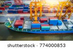 logistics and transportation of ...   Shutterstock . vector #774000853