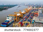 logistics and transportation of ... | Shutterstock . vector #774002377