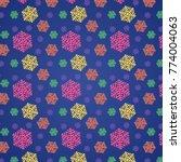 snowflakes pattern vector...   Shutterstock .eps vector #774004063