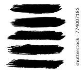 vector black paint  ink brush... | Shutterstock .eps vector #774007183