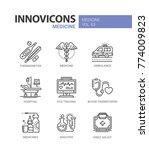 medicine   line design icons... | Shutterstock .eps vector #774009823