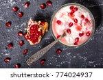 pomegranate and yoghurt | Shutterstock . vector #774024937