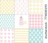 funny seamless pattern with a... | Shutterstock .eps vector #774030193
