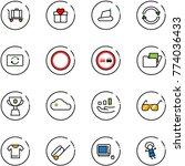 line vector icon set   baggage... | Shutterstock .eps vector #774036433
