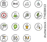 line vector icon set   metal... | Shutterstock .eps vector #774038413