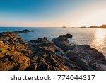 sunshine at pointe du grouin. a ... | Shutterstock . vector #774044317