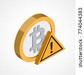 bitcoin web icon   Shutterstock .eps vector #774044383