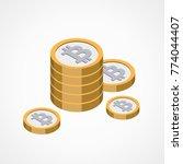bitcoin web icon   Shutterstock .eps vector #774044407