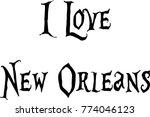 i love new orleans text... | Shutterstock .eps vector #774046123