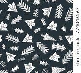 seamless christmas pattern in... | Shutterstock .eps vector #774046567