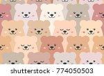cartoon bears. seamless vector... | Shutterstock .eps vector #774050503