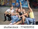 drink  smile and take a selfie | Shutterstock . vector #774050953