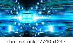 binary circuit board future...   Shutterstock .eps vector #774051247