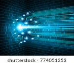 binary circuit board future...   Shutterstock .eps vector #774051253