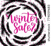 winter sale lettering design.... | Shutterstock .eps vector #774059683