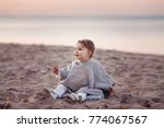 adorable happy smiling little... | Shutterstock . vector #774067567