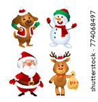 merry christmas. santa claus ... | Shutterstock .eps vector #774068497