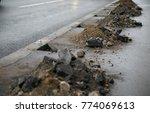heaps of soil from sand  stones ... | Shutterstock . vector #774069613