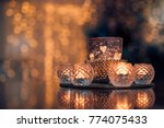 cosy and soft winter background ... | Shutterstock . vector #774075433