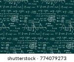 retro education and scientific... | Shutterstock .eps vector #774079273