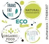fresh  organic  gluten free ... | Shutterstock .eps vector #774084307