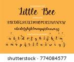 handrawn vector alphabet.... | Shutterstock .eps vector #774084577
