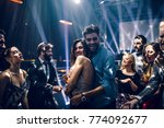 shot of a young couple dancing... | Shutterstock . vector #774092677
