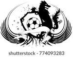 heraldic black wolf f tbol... | Shutterstock .eps vector #774093283