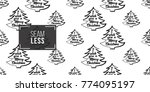 vector xmas frame tree with... | Shutterstock .eps vector #774095197