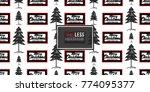 vector big forest fir and merry ... | Shutterstock .eps vector #774095377