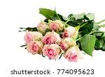 fresh pink rose flowers bouquet ... | Shutterstock . vector #774095623