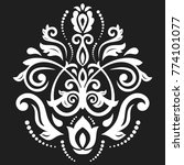 oriental vector white pattern... | Shutterstock .eps vector #774101077