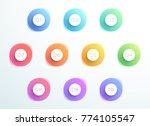 abstract bullet point 3d... | Shutterstock .eps vector #774105547