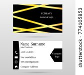 name card template  design for... | Shutterstock .eps vector #774105853