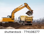 building machines  digger... | Shutterstock . vector #774108277