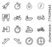 thin line icon set   rocket ...   Shutterstock .eps vector #774109663