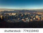 twilight sunset at han river... | Shutterstock . vector #774110443