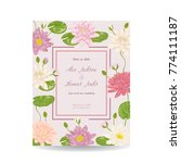 save the date card with water... | Shutterstock .eps vector #774111187