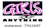 hipster funky t shirt  girls... | Shutterstock .eps vector #774113437