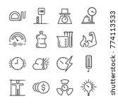 unit of measurement icon set.... | Shutterstock .eps vector #774113533